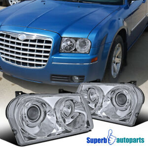For 2005 2010 Chrysler 300 Projector Headlights Lamps Pair Replacement