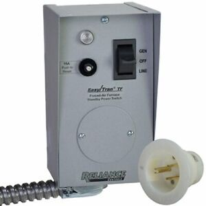 Reliance Controls 15 amp 120v 1 circuit Furnace Transfer Switch