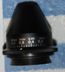 Nikon Microscope Achr 0 85 Condenser Labophot Optiphot