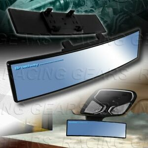 Universal Blue Broadway 270mm Wide Convex Tint Interior Clip On Rear View Mirror