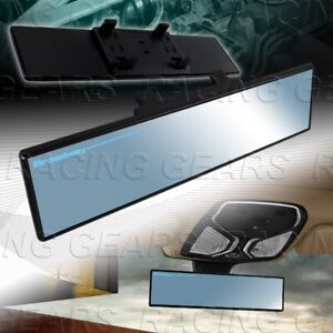 Blue Broadway 300mm Wide Flat Tint Interior Clip On Rear View Mirror Universal 1