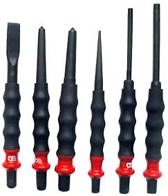 6pc Facom Sk Shock Absorbing Punch Chisel Set Tools New