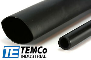 7 Lot Temco 1 3 16 Marine Heat Shrink Tube 3 1 Adhesive Glue Lined 4 Ft Black