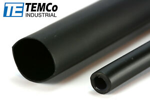 10 Lot Temco 3 4 Marine Heat Shrink Tube 3 1 Adhesive Glue Lined 4 Ft Black