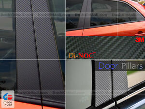Toyota Prius V 12 13 Di Noc Carbon Fiber Door Pillars Post Trim 2012 2013