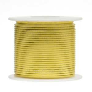 24 Awg Gauge Solid Hook Up Wire Yellow 500 Ft 0 0201 Ul1007 300 Volts
