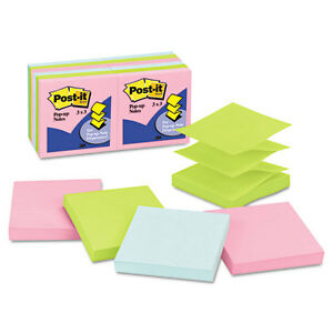 72 Post it Pop up Notes Pop up Note Refills 3x3 Pastel Colors 100 sheet Pads