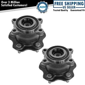 Wheel Bearing Hub Assembly Rear Driver Passenger Pair For Altima Maxima
