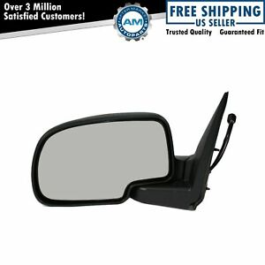 Side View Mirror Power Heated Smooth Black W Puddle Driver Lh For Chevy Gmc