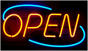 Horizontal Neon Open Sign Light Big Open Signs Restaurant Business Bar