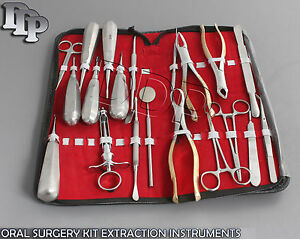 20 Pcs Premium Dental Oral Surgery Kit Extraction Instruments Forceps Elevators
