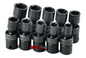 Sk 33351 10 Piece 6 Point Swivel Metric Impact Socket Set