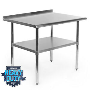 Stainless Steel Kitchen Restaurant Work Prep Table With Backsplash 24 X 36