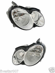 2 Oem Left right Headlights Headlamp Assembly Set Without Xenon For Mercedes Clk