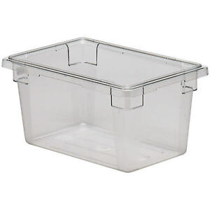 Cambro 4 75 Gal Food Storage Boxes Camwear 6pk Clear 12189cw 135