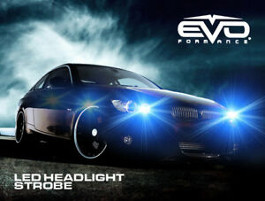 Evo Formance Universal Led Strobe Headlights Kit 3 watt Blue For Car truck