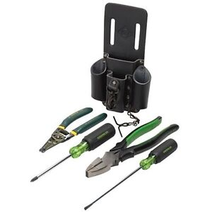 Greenlee 0159 14 5 Piece Electricians Starter Tool Kit
