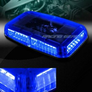 Led Blue 8 modes Roof Top Emergency Hazard Warning Flash Strobe Light Universal