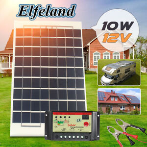 10w 12v Solar Panel Battery Charger 10a Controller 4m Cable For Rv Boat Car