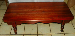Mid Century Solid Cherry Coffee Table By Brandt Bm Ct129