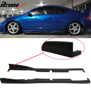 Fits 02 06 Acura Rsx Dc5 Cs Style Bottom Line Side Skirt Extensions Urethane