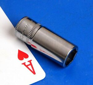 Snap On Tools 1 4 Drive 9mm Semi Deep Chrome 6 Point Socket Wrench 2019 New