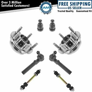 Wheel Hub Assembly Ball Joint Sway Bar Link Tie Rod Front Kit For Ford Mustang