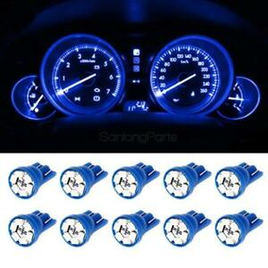 10x Blue T10 194 Led Bulbs Car Instrument Cluster Lights Speedometer Indicator
