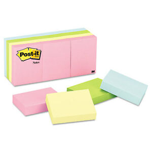 432 Post it Notes Color Notes 1 1 2 X 2 Pastel Colors 100 sheet Pads
