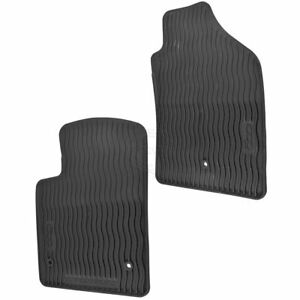Oem All Weather Black Molded Rubber Front Floor Mat Kit Pair Set Of 2 For Fiat