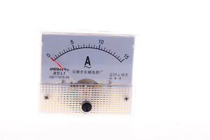 Analog Ampere Meter 85l1 a Ac 0 15a Rectangle Analog Amp Ammeter Class 2 5