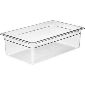 Cambro 1 1 Gn Polycarbonate Hotel Pan 6 Deep 6pk Clear 16cw 135