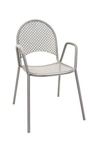 Lot Of 10 Aluminum Restaurant Outdoor Patio Silver Metal Powder Coated Chair