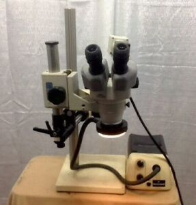 Nikon Smz660 Stereo Microscope 10x 22 Eyepieces With Light Ring And Boom Stand