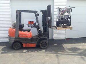 2003 Toyota Forklift Truck Triple Stage Propane Lift Pallet Stacker Reach Used