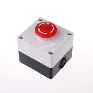 10xred Sign Mushroom Emergency Stop Push Button Switch Station Normally Closed