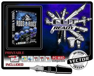 Rods N Rides Eps Vector Art Vinyl Cutter Plotter Software Eps Cut Ready Art