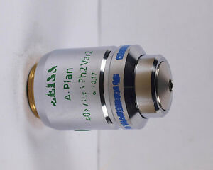 Zeiss A plan 40x Ph2 Var2 Phase Contrast Infinity Microscope Objective