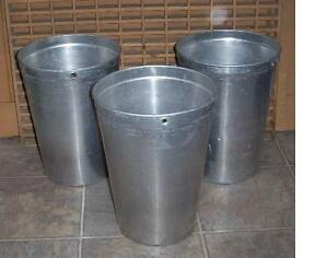 3 Aluminum Sap Buckets Maple Syrup Bucket Very Nice