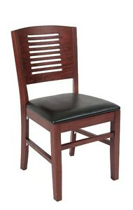 Lot Of 20 Mahogany Finish Decorative Back Wooden Restaurant Chair