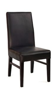 Lot Of 20 Black Vinyl Parsons Restaurant Chair
