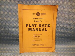 1937 42 Tune Up Flat Rate Service Manual Gm Ford Chrysler Packard Hudson 39 40