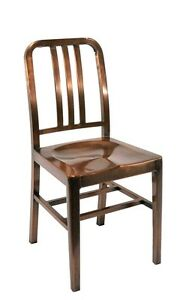 Lot Of 20 Steel Restaurant Chair In Rose Copper Finish