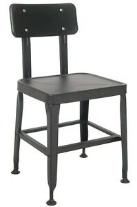 Lot Of 20 Metal Restaurant Chair In Black Finish