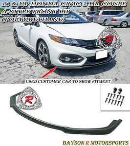 A style Front Lip urethane Fits 14 15 Civic 2dr