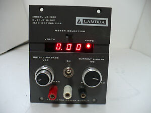 Lambda Lq 520 Dc Power Supply 0 10v 5 0 Amp Max