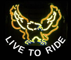 Live To Ride Neon Bar Sign