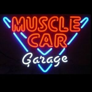 Muscle Car Garage Neon Bar Sign