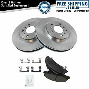 Nakamoto Front Ceramic Brake Pads Rotors Left Right Kit Set For Buick Chevy