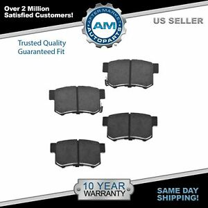 Nakamoto Ceramic Rear Brake Pad Left Lh Right Rh For Honda Civic Acura Integra